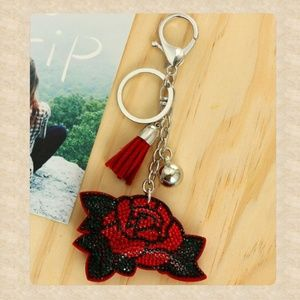 Accessories - Vintage Style Red Rose Purse Charm!